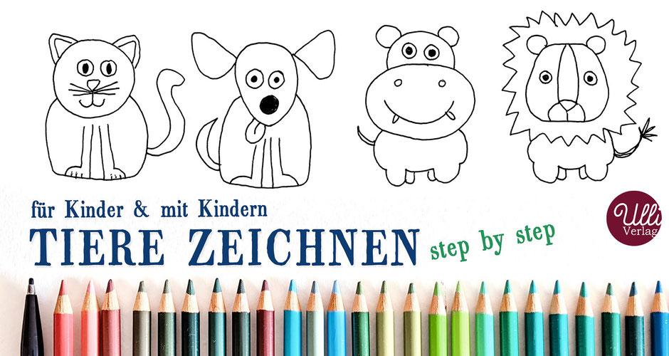 Kinder Tiere malen Anleitung