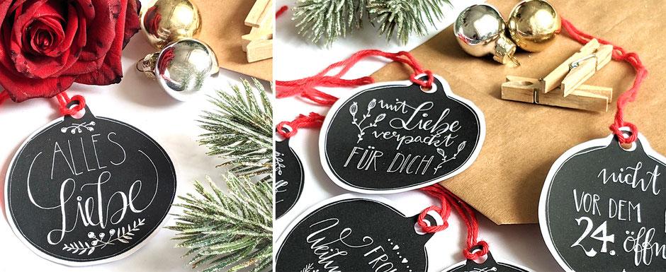 Weihnachten: DIY Geschenkanhänger zum Ausdrucken und Ausschneiden  Ulli Verlag