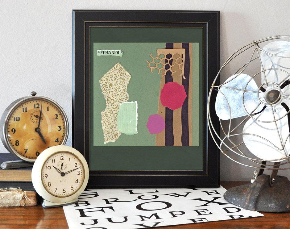 Kunstdruck, Collage, farbenfroh, Ulrike Spang, Ulli Verlag