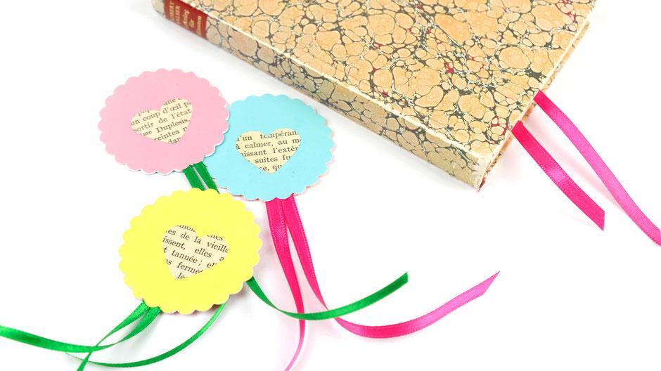 Schöne Lesezeichen aus Papier einfach selbst basteln, ulli verlag