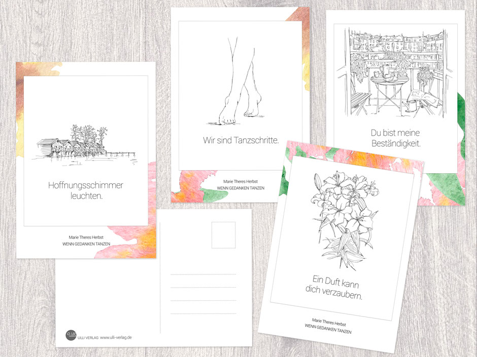 Postkarten Ulli Verlag Poesie Marie Theres Herbst