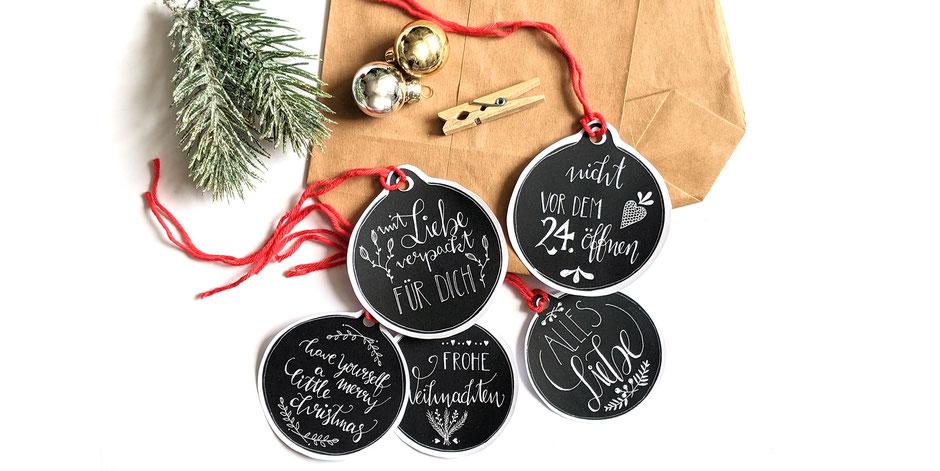 Weihnachten: DIY Geschenkanhänger zum Ausdrucken und Ausschneiden, Ulli Verlag