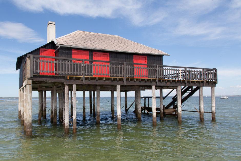 Profitez de votre séminaire pour découvrir les fameuses cabanes tchanquées de l'île aux oiseaux en partageant une balade en bateau traditionnel sur le bassin d'Arcachon