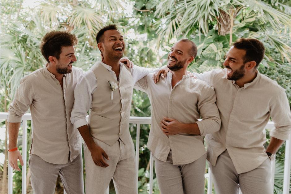 ROVA FineArt artistic Wedding Photography - Hochzeitsfotografie - destination wedding Mexico - groom getting ready