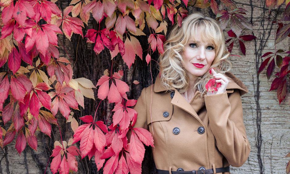 Make-up und Hairstyling für Herbstshooting