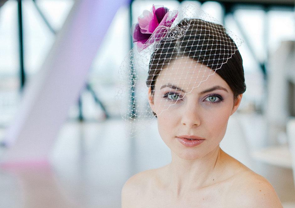 Fascinator in Ivory, Rosa, Pink, Violett Mix für die trendy, moderne Braut