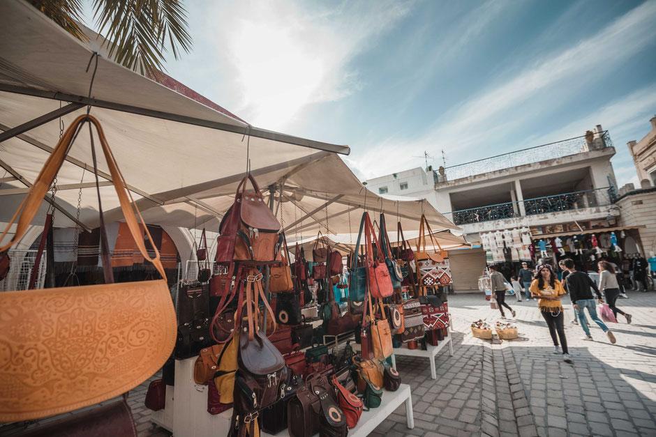 Handtaschen Markt Souk Tunesien Tunis Nabeul