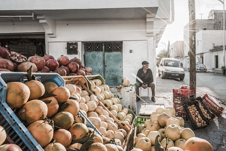 Obsthänder, Hammamet, Obst, Handel