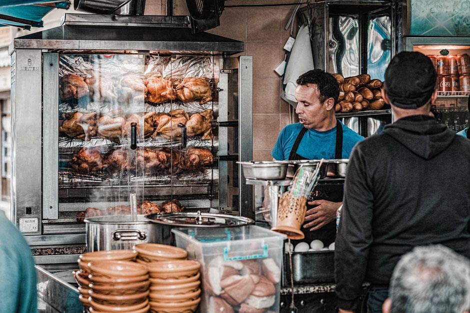 Grillhuhn, Huhn, Grill, Essen, Tunesien