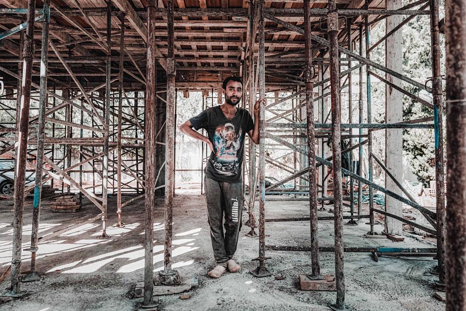 Arbeiter, Tunesien, Baustelle