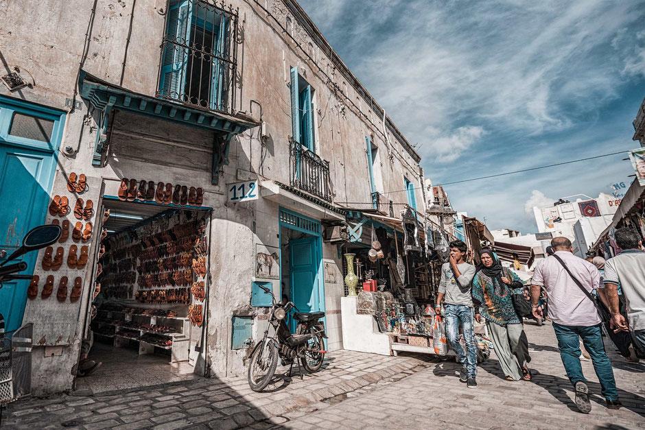 Markt Souk Tunesien Tunis Nabeul