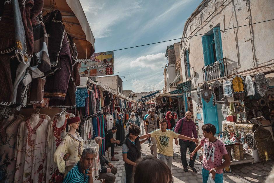 Marktleben Souk Tunesien Tunis Nabeul