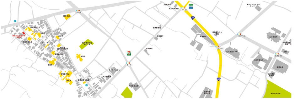 小保榎津藩境のまち アクセスマップ
