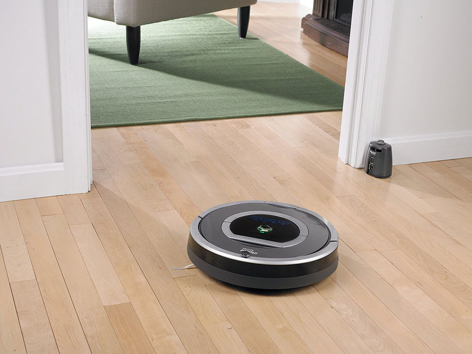 Roomba 782 bei Reinigung, die Virtual Wall oder Vertuelle wand verhindert den Raumwechsel