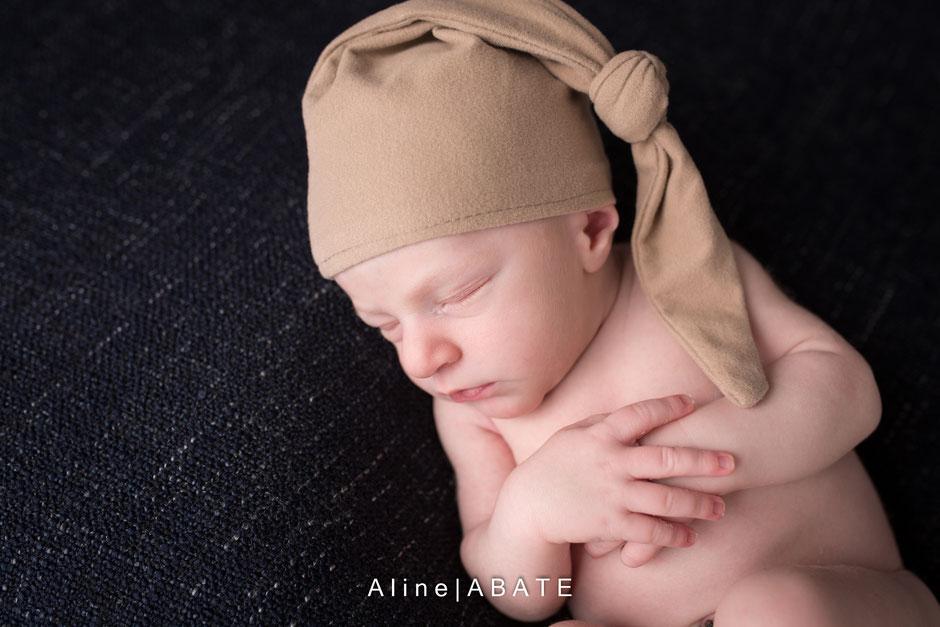 photo de nouveau né en studio photographe nord