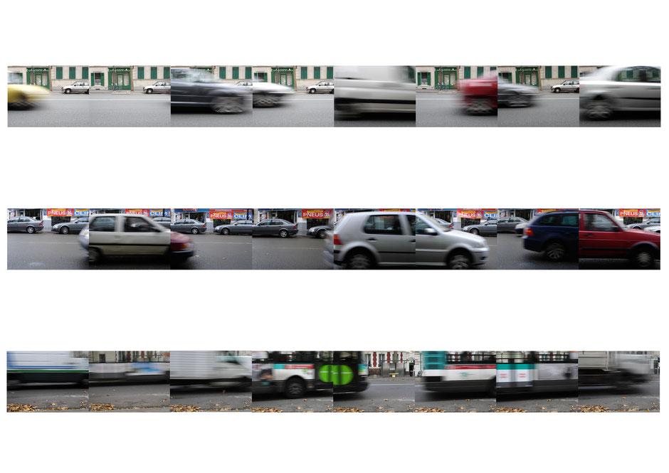 Claire Guyard-Aschehoug photographi numérique photomontage mouvement voitures cars motion