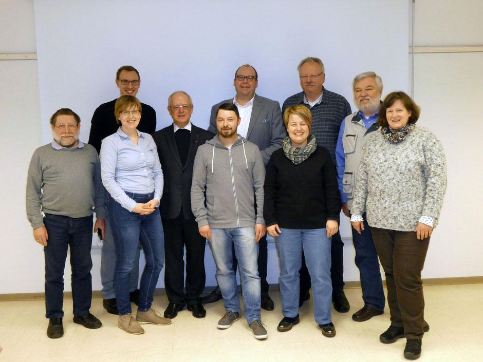 Der gemeinsame Vorstand von Katholikenrat und Stadtkonferenz