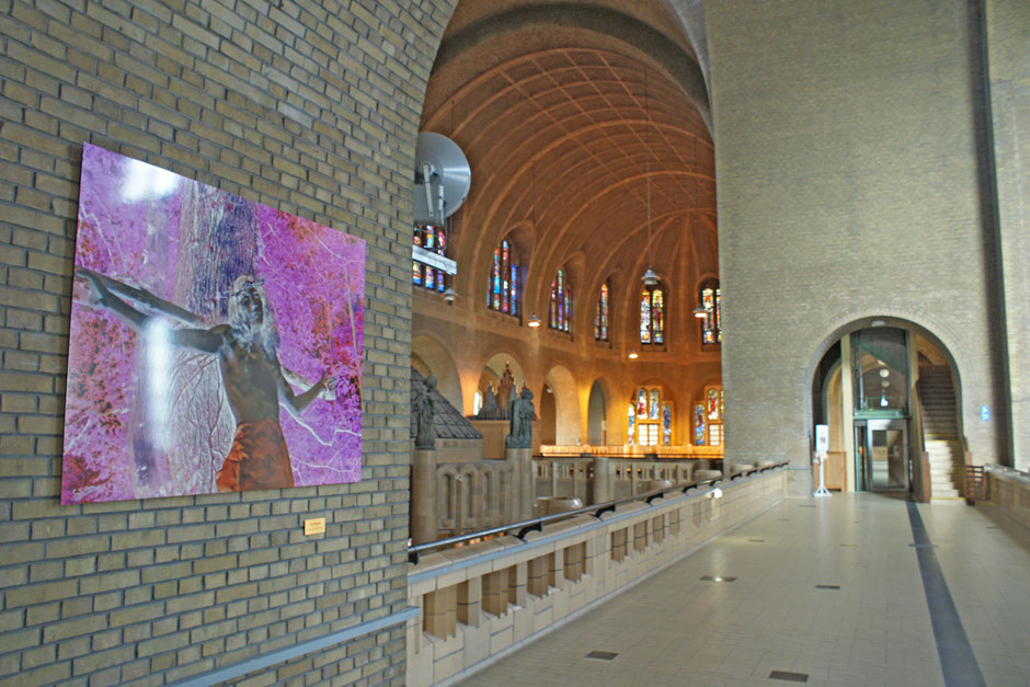 When Jesus became the Christ, by San Damon. In the Museum of Modern Art of the Basilica of the Sacred Heart in Brussels