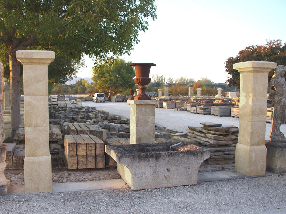 Torpfosten handgefertigt aus französischen Naturstein