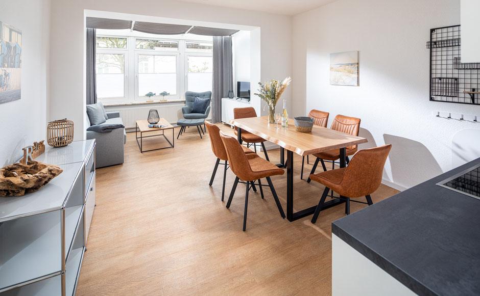 Strandloft 3 Norderney Wohnung 1 - Wohnbereich  mit Essecke