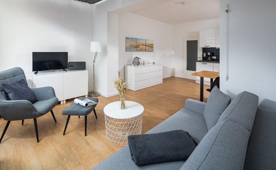 Strandloft 3 Norderney Wohnung 2 - Wohnbereich