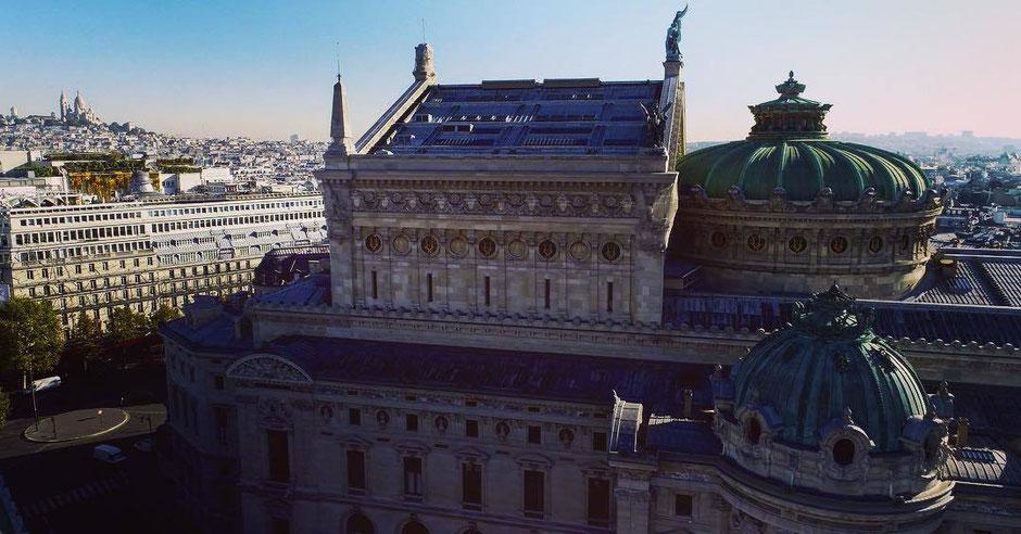 Opéra Paris, Spie batignolles, drone, vue en hauteur, film, corporate, PRESTATION DRONE