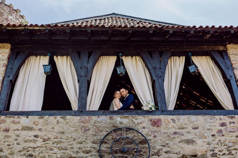 Brautpaarshooting vor der Trauung auf Schlossgut Diel Burg Layen bei Bad Kreuznach