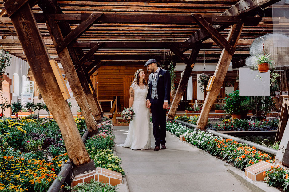 Brautpaar auf der Gartenschau in Kaiserslautern