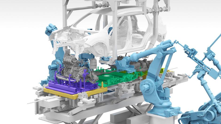 Nouvelle technologie de production chez Nissan en 2020