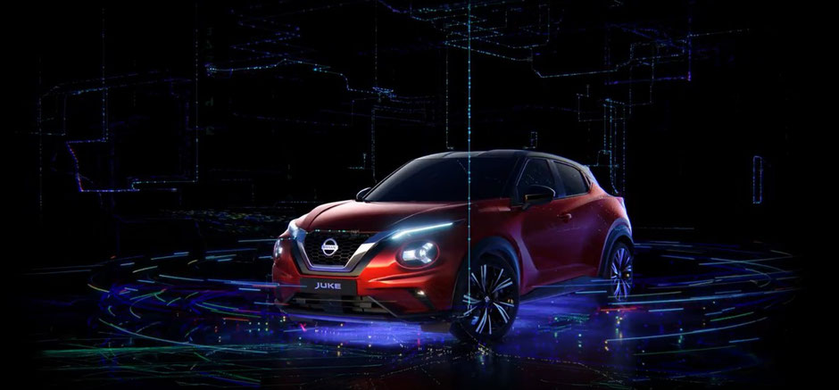 hologrammes du nouveau Nissan Juke dans les gares de France en Mars 2020