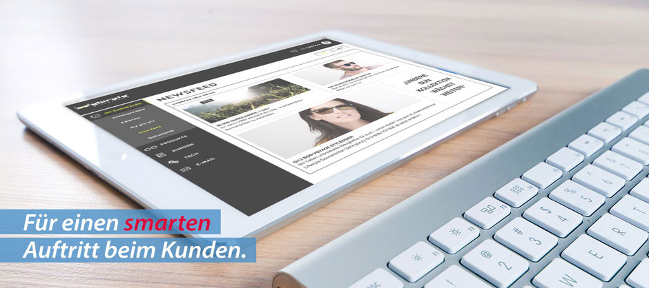 OfficeAssistant CRM auf dem Tablet