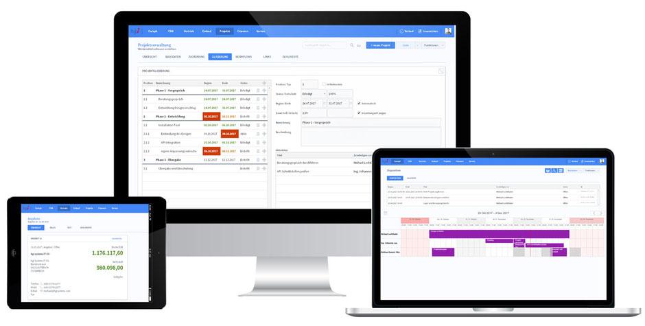 OfficeAssistant ERP CRM für Tablet, PC und Mac