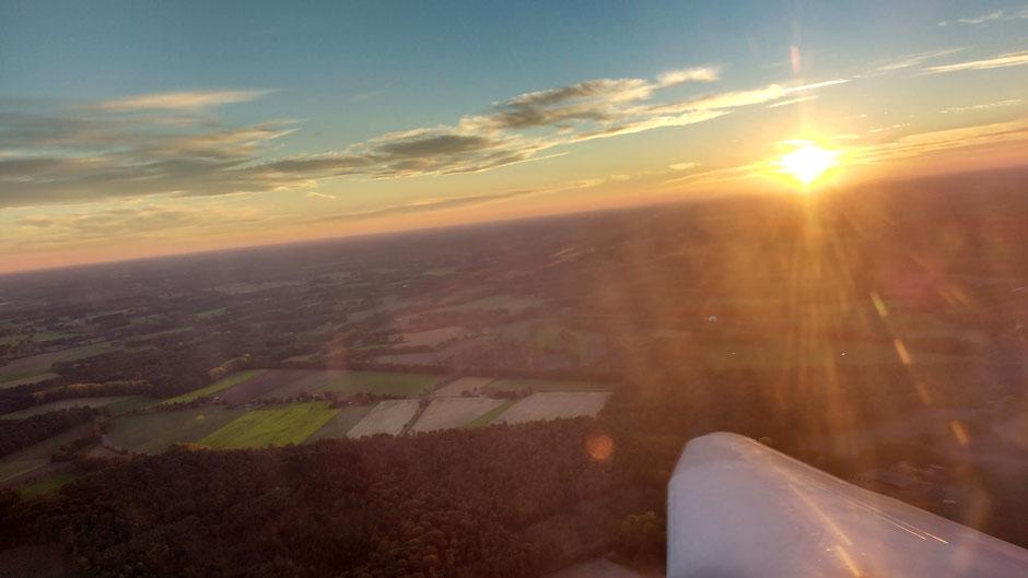 Der letzte Start kurz vor Sunset