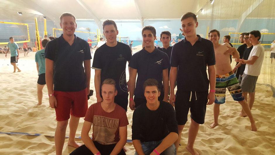 Team Stadtlohn: obere Reihe v.l.: Michi, Fritz, Tobi, Christoph; untere Reihe v.l.: Fredde, Pascal