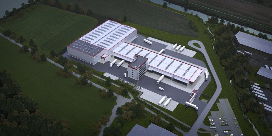Industrieanlagen 3D Visualisierung, Schenker Schweiz, Lagerhalle Pfungen