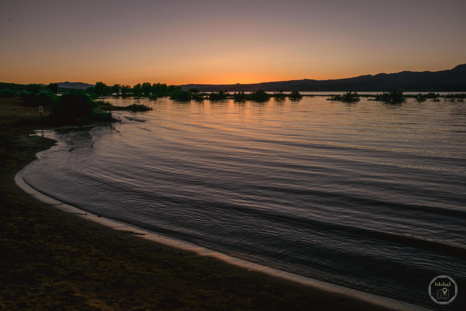 St. George Utah State Park Sonnenuntergang Sand Hollow SP See hikelust
