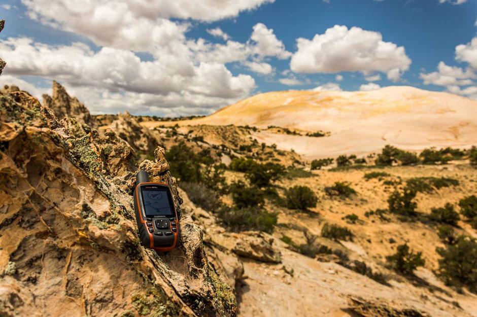 Unser GPS-Gerät hat uns am Yellow Rock sehr hilfreiche Dienste geleistet