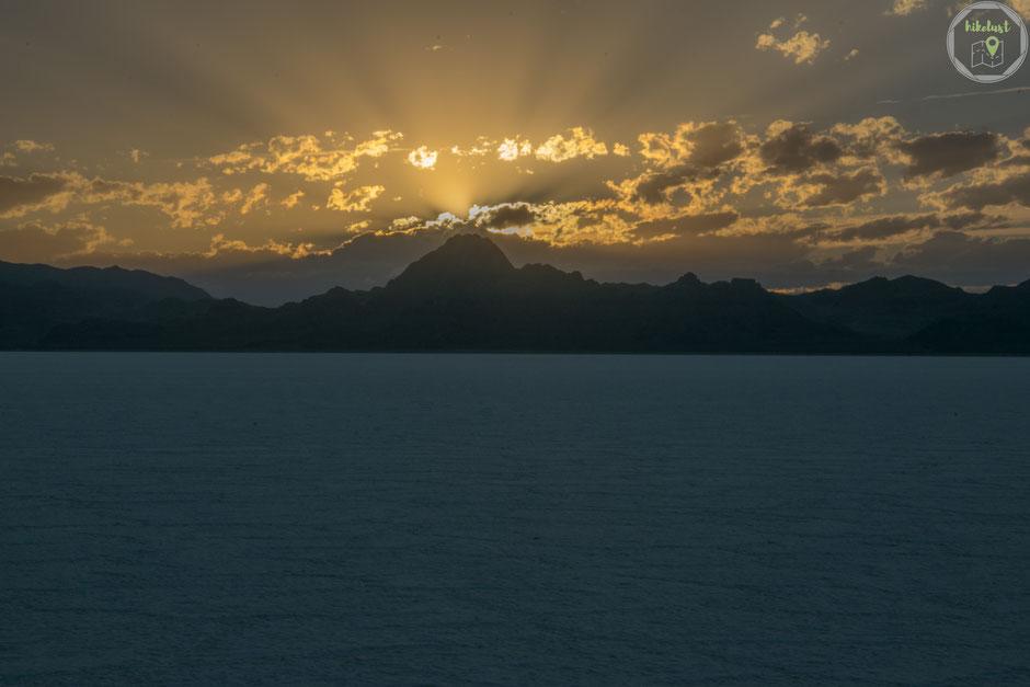 Sonnenuntergang an den Bonneville Salt Flats