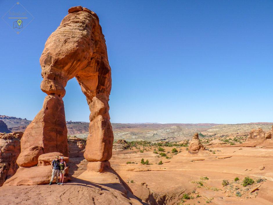 Die Größe vom Delicate Arch ist beachtlich