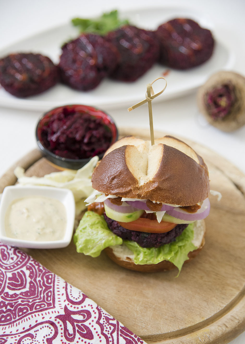 Rote Beete Burger vegan