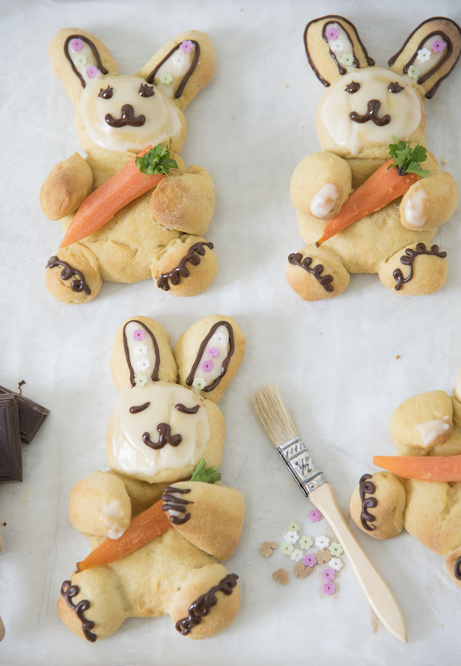 Süßes Quarkgebäck zu Ostern vegan