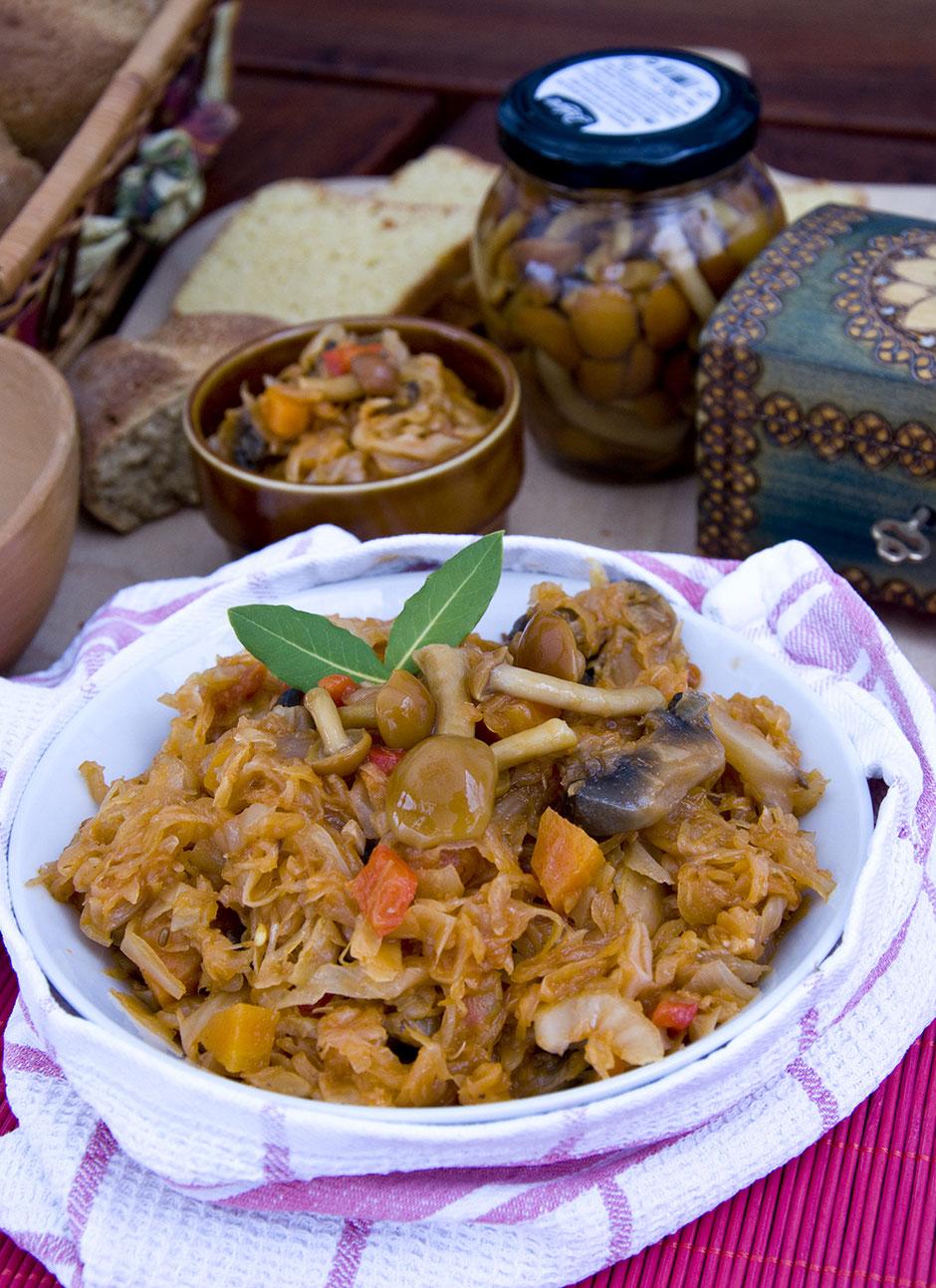 Bigos- polnischer Sauerkrauteintopf vegan