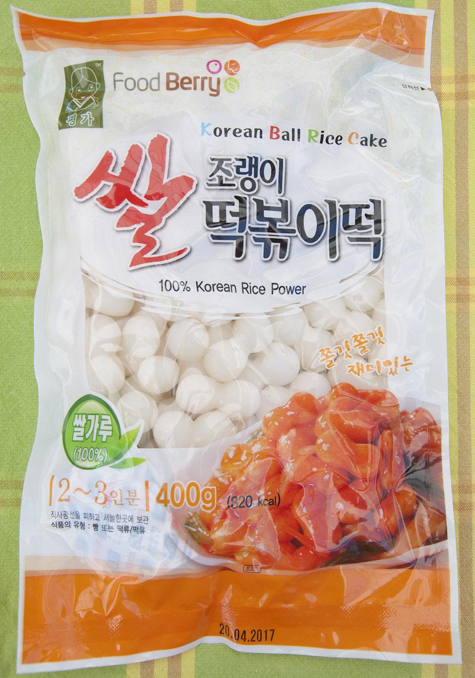 Tteokbokki-scharfe Koreanische Reiskuchen