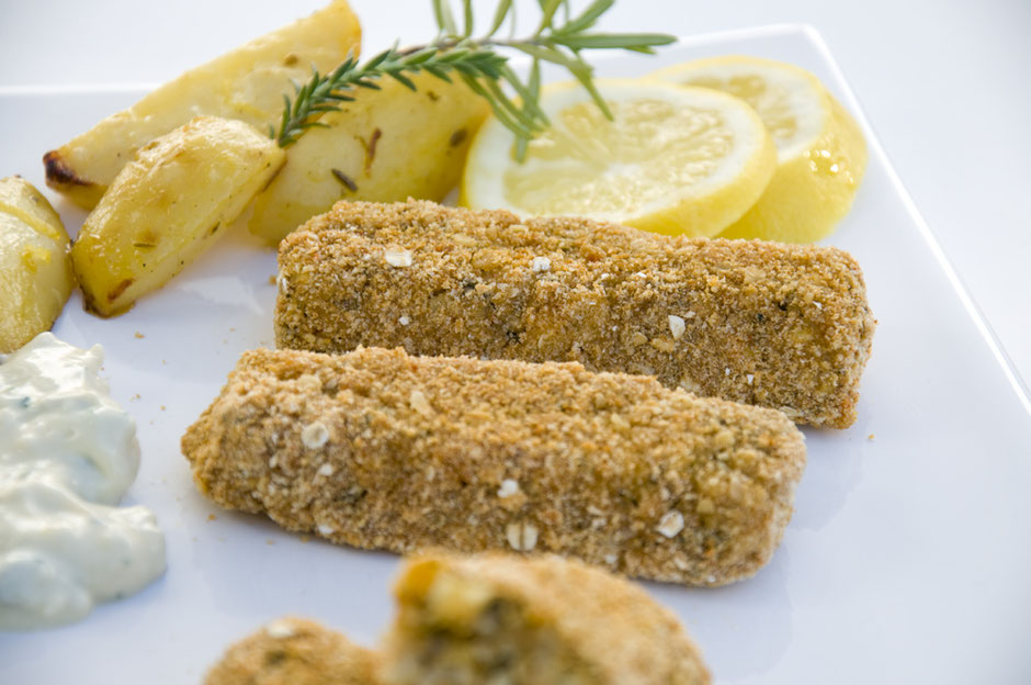Vegane Fischstäbchen