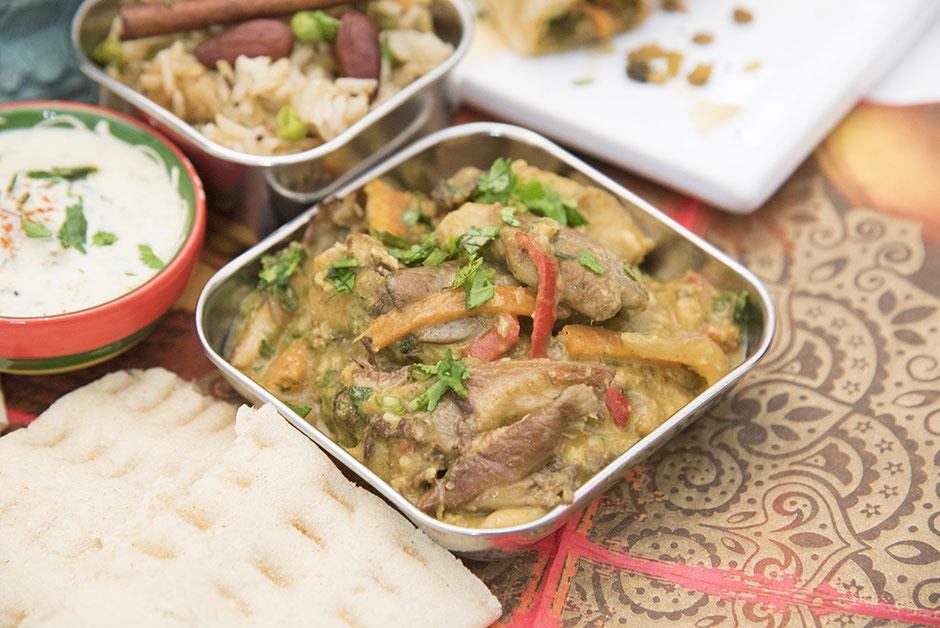 Veganes Austernpilz- Curry