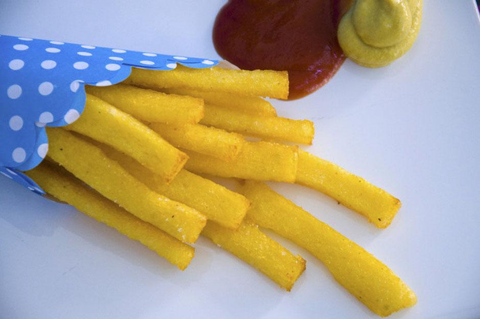 Polenta Pommes vegan
