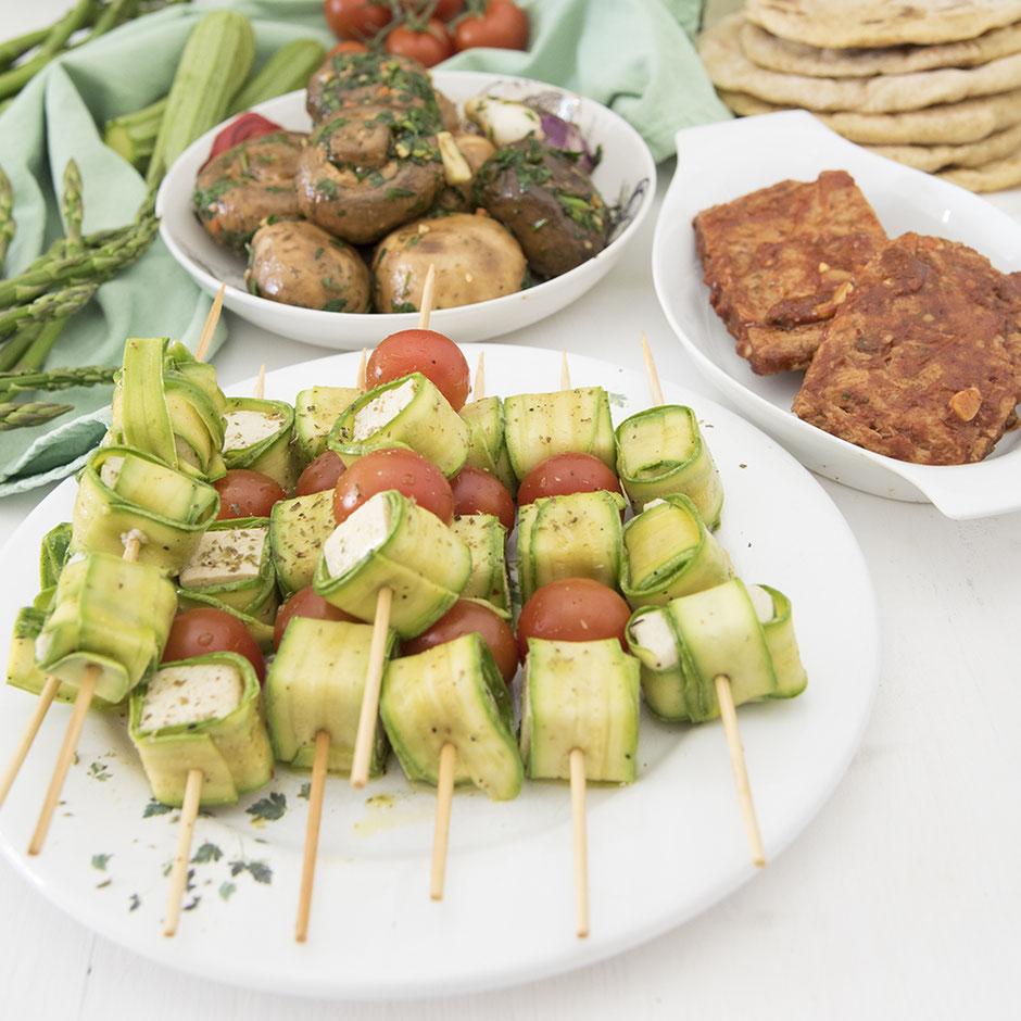 Fetaspiesse im Zucchinimantel vegan