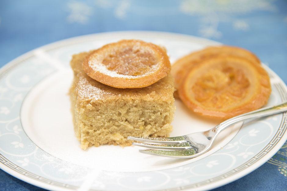 Portokalopita vegan, griechischer Orangenkuchen