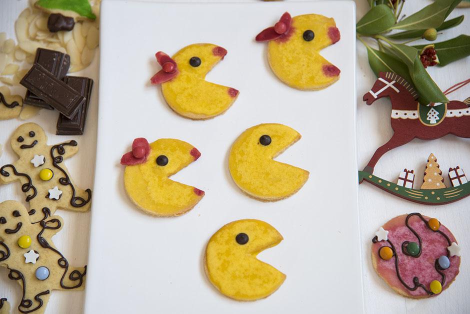 Pac Man Plätzchen vegan