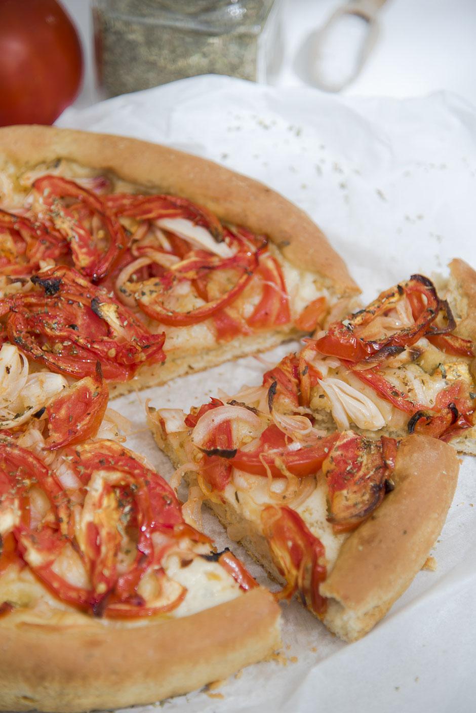 Ladenia Kimolos–Griechische Kykladen-Pizza  vegan